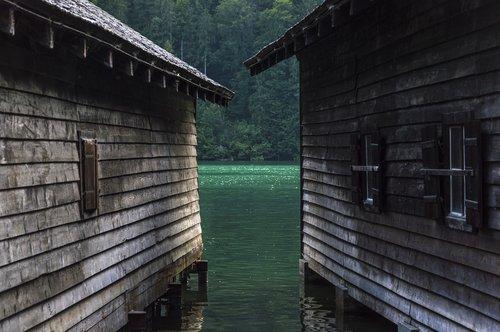boat house  boathouses  königssee