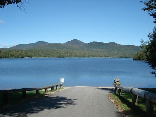 boat landing lake water