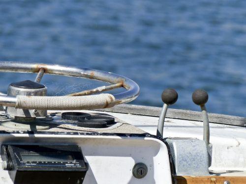 Boat Steering Wheel And Gears