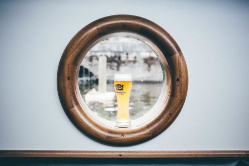 boat window drink ship