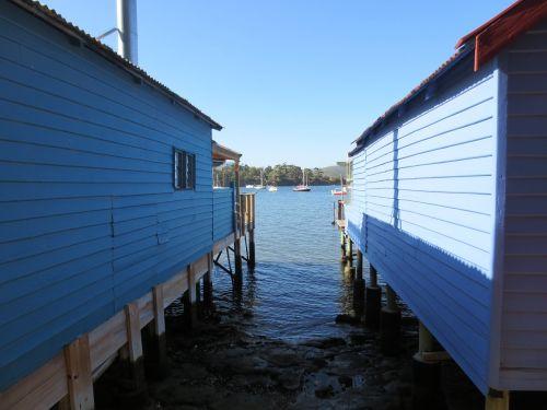 boathouse,valtys,kranto,vanduo,dangus,Krantas,architektūra,kranto linija,kajutė,kranto,ramus,mėlynas,įlanka,plaukiojimas,paveldas,hobartas,Tasmanija,cornelian laur,pastatas