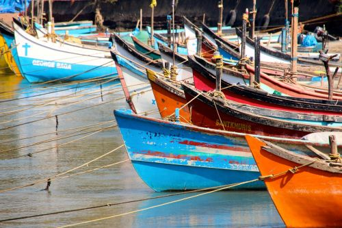 boats port colorful