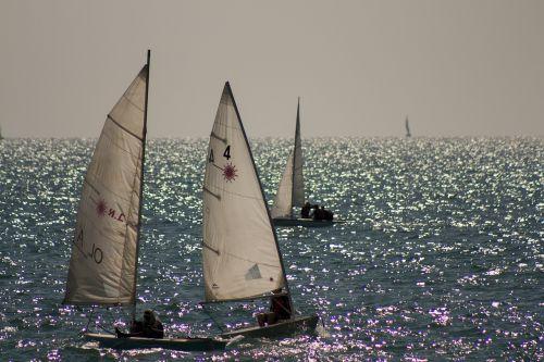 boats sail sea