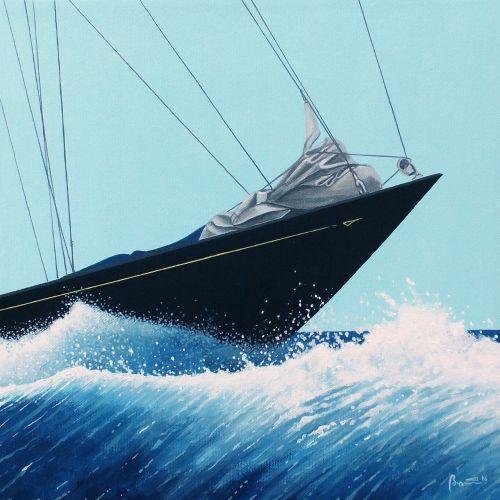 paintings boats vela