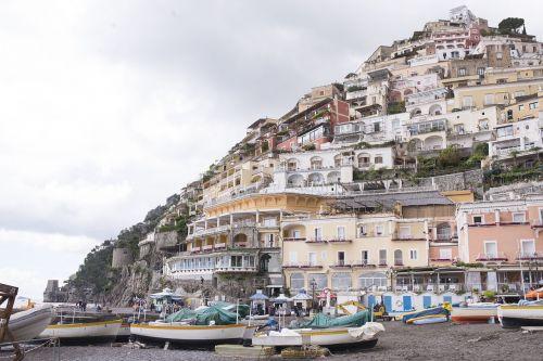 boats buildings coast