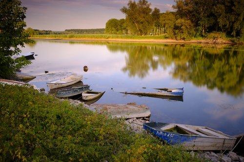 boats  rowing boat  lake