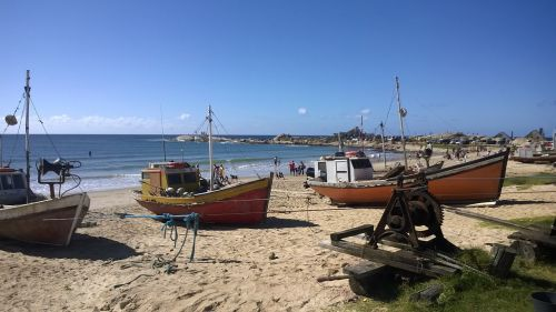 boats beach uruguay