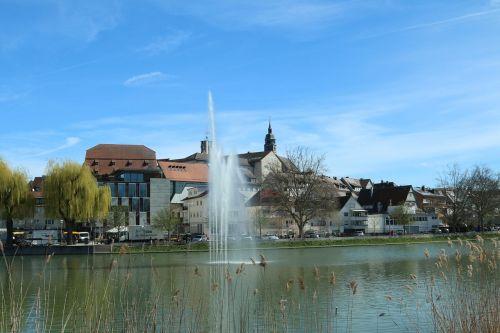 Böblingen, miestas, ežeras, namai, bažnyčia, miesto vaizdas, Miestas, ežeras, baden württemberg, viršutinis ežeras
