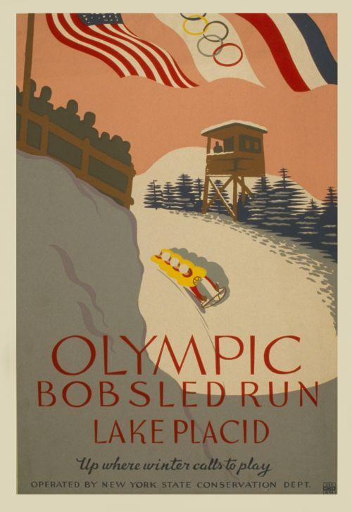 Bobsled Run Vintage Poster