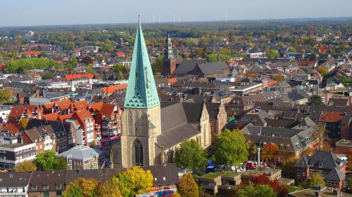 bocholt aerial view church