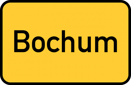 bochum town sign city limits sign
