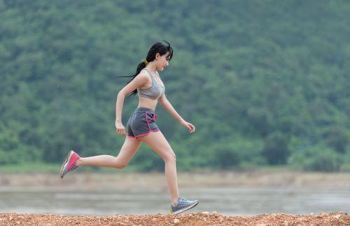 lady joging rush