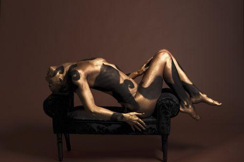 body painting model body