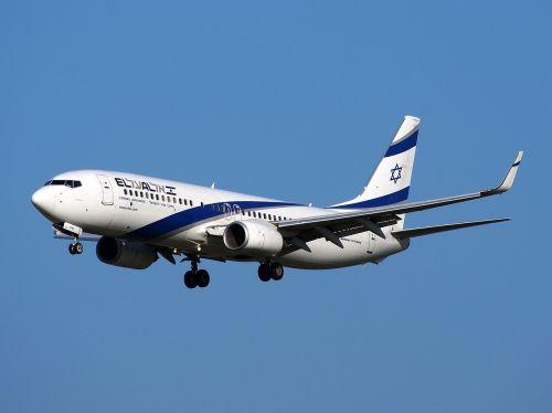 boeing 737 israeli airlines take off