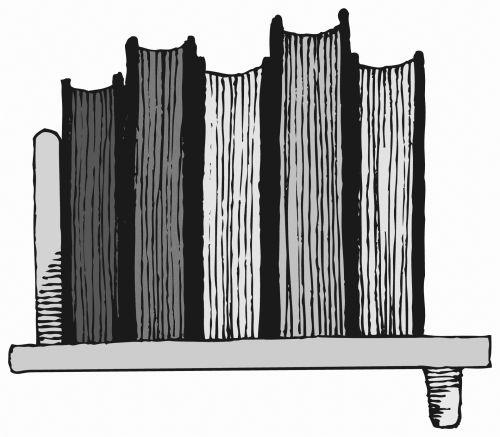 Bookshelf Black And White