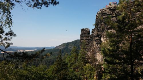 bohemian switzerland national park sandstone crumbling cliff