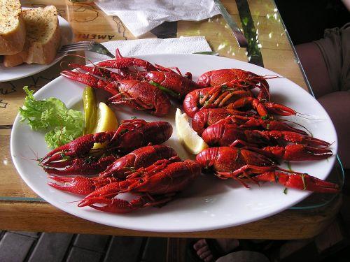 boiled crayfish crawfish food