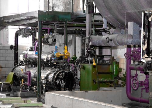 boiler house heating motor
