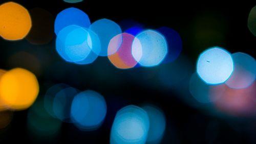 bokeh blur blue