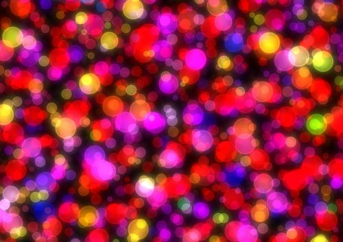 bokeh colorful red