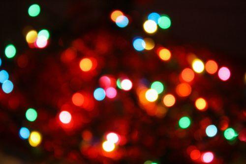 bokeh christmas christmas tree