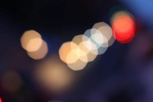 bokeh lights points