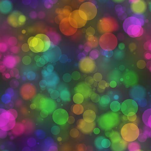 bokeh lights bubbles