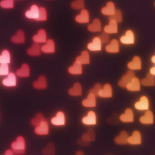 bokeh hearts background