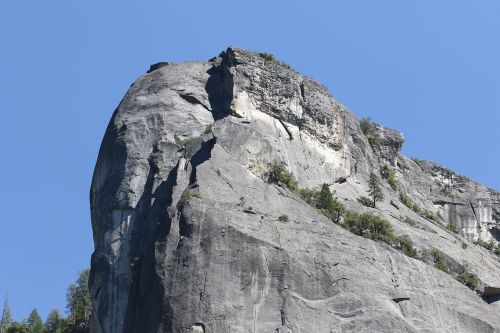 bold solid rock face