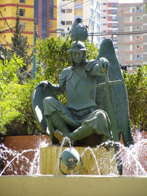bolivian statue la paz guardian