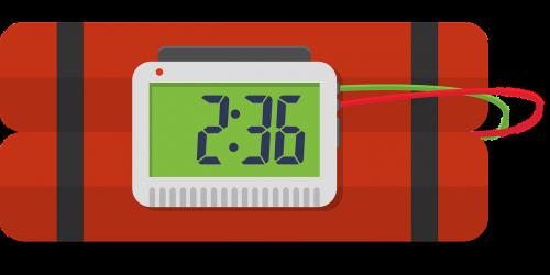 bomb dynamite clock
