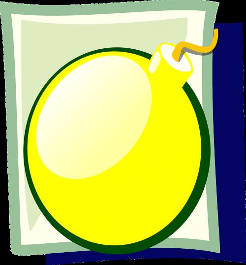bomb explosive yellow