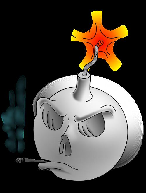bomb dangerous smoking