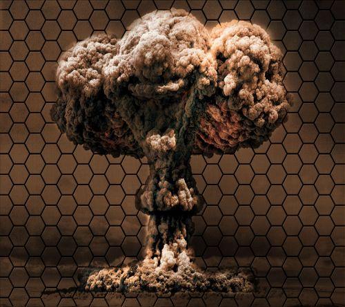 bomb honeycomb background vector