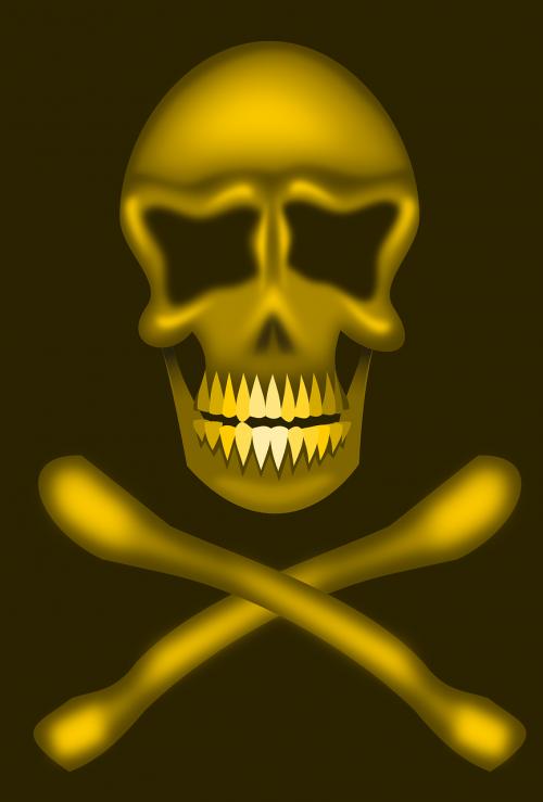 bones skull death's head