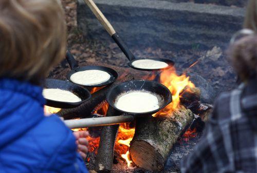 bonfire pancakes fire