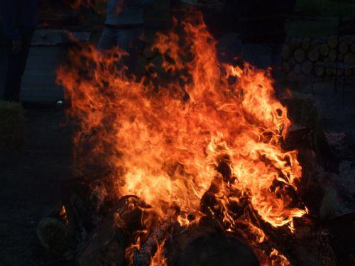 bonfire flames blaze