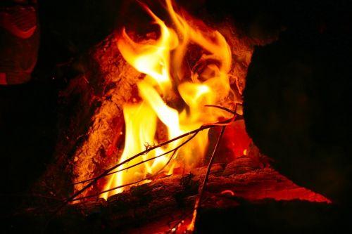 bonfire fire camping