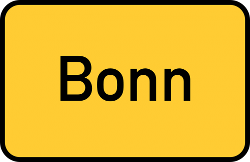 bonn town sign city limits sign