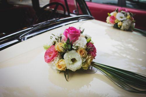 bonnet bridal car celebration