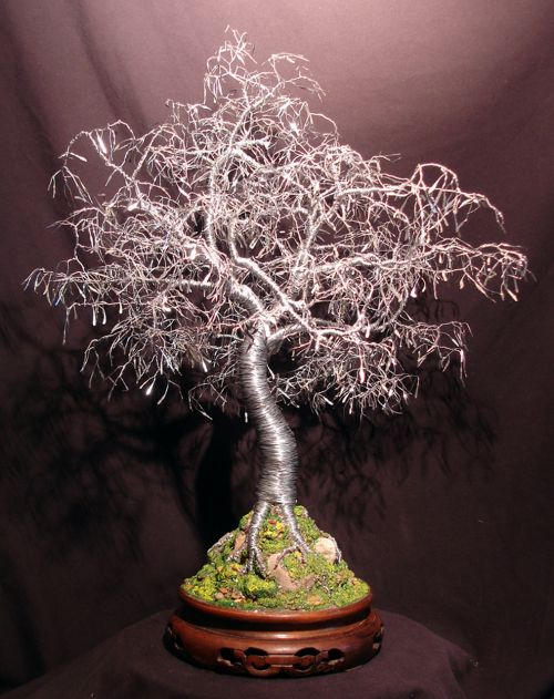 Bonsai With Leaves Tree Sculpture
