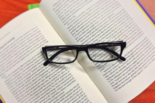 book glasses read