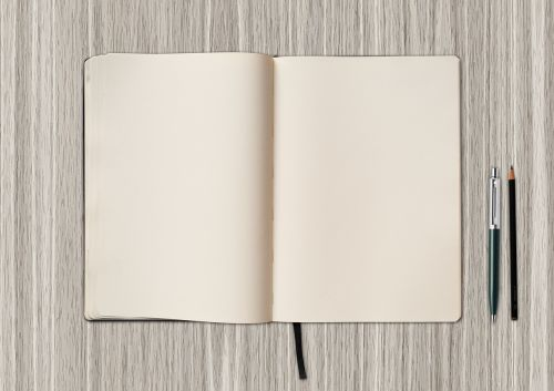 book blank write