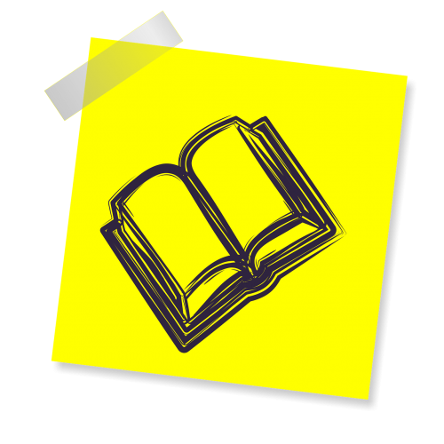 book reminder yellow sticker