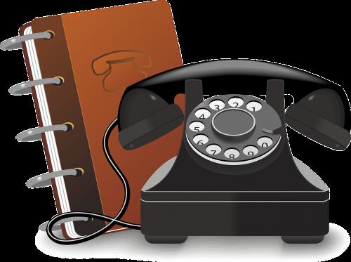 book phone telephone