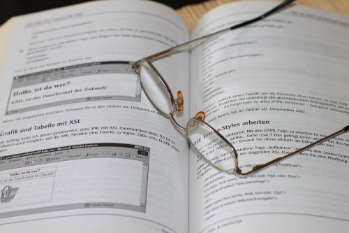 book glasses read