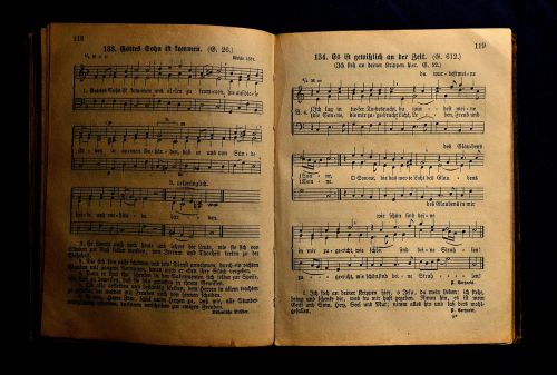 book antiquariat hymnal