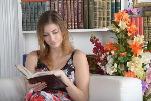 book library girl