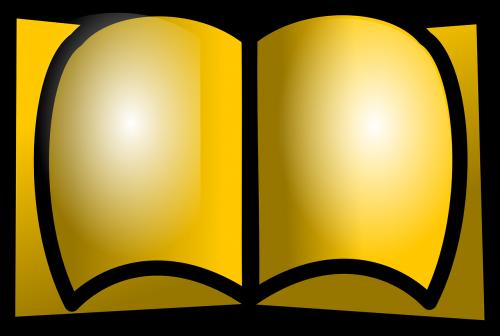 book open gold