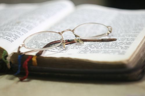 book reading eyeglasses